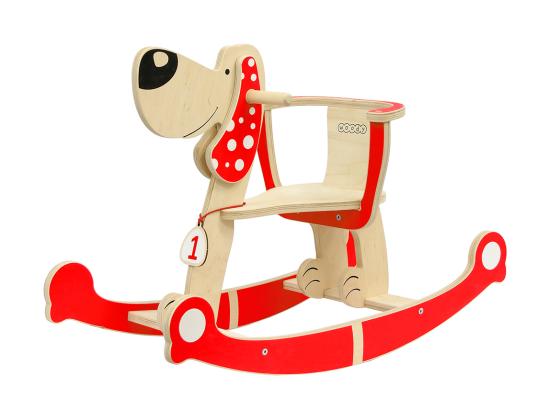 Детская игрушка Собака-качалка