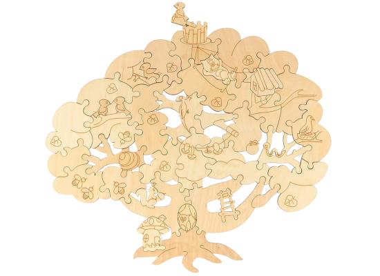 Деревянный пазл расскраска