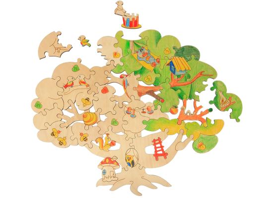 Деревянный пазл Чудесное дерево
