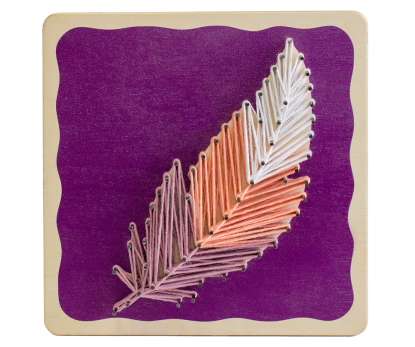 "String-art kit ""Feather"""