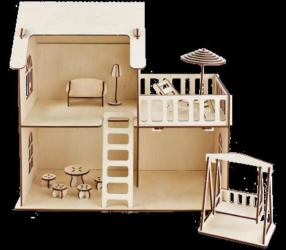Кукольный дом с летней террасой