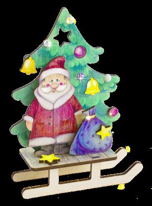 3D Дед Мороз с подарком